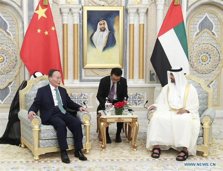 UAE-ABU DHABI-CHINA-WANG QISHAN-VISIT