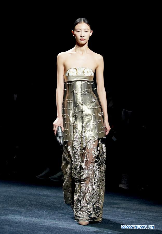 13c795778 Creations of Chinese brands presented during China Fashion Week ...