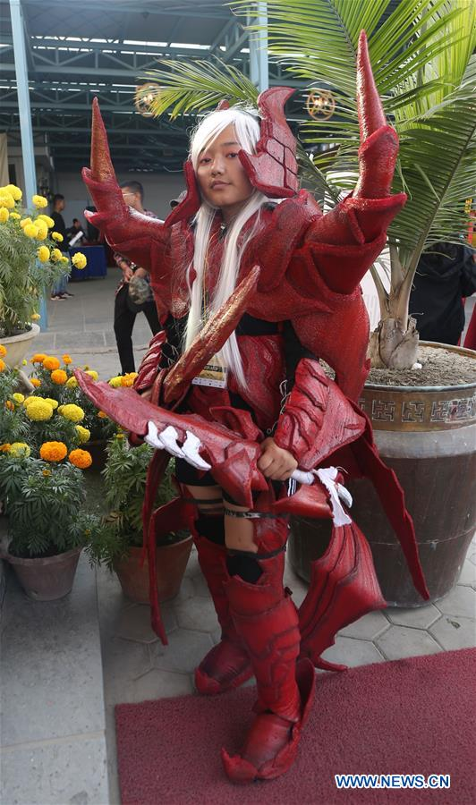 Comic And Cosplay Convention Nepal 2018 Hled In Lalitpur Xinhua