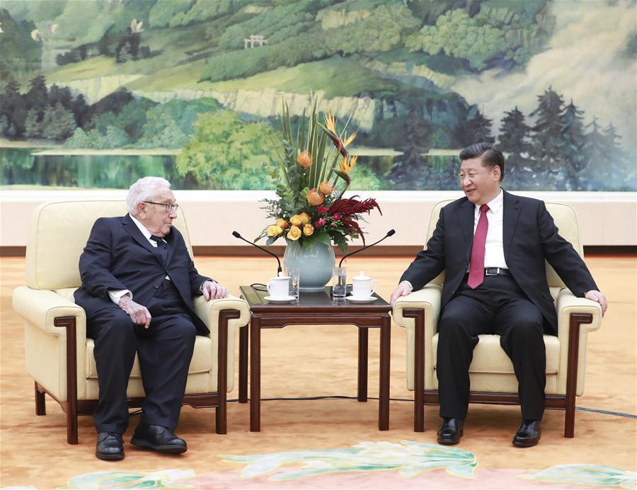President Xi meets Henry Kissinger – Xinhua