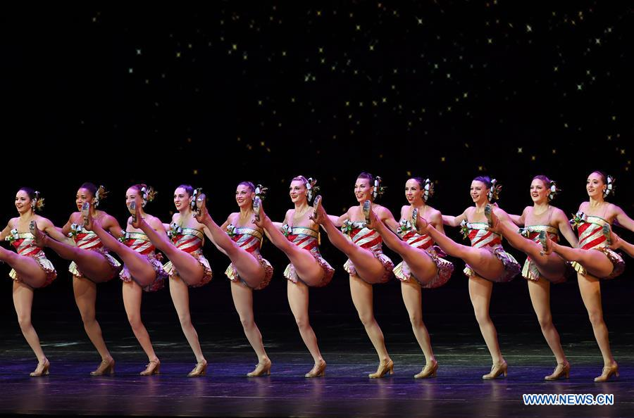 Rockettes Christmas Spectacular.The Rockettes Perform During 2018 Production Of Christmas
