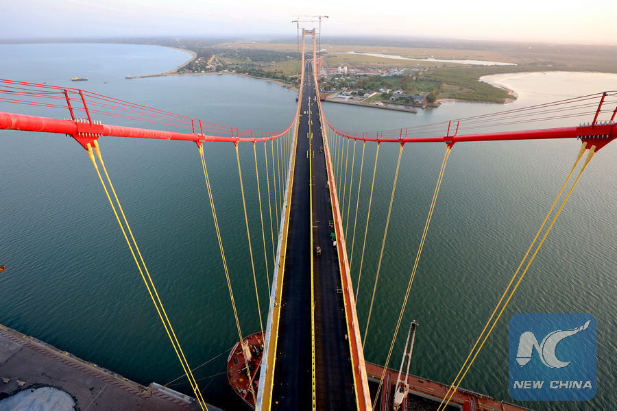 Africa's longest suspension bridge opens to traffic in Mozambique