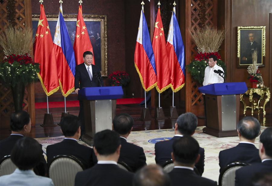 PHILIPPINES-CHINA-XI JINPING-DUTERTE-TALKS