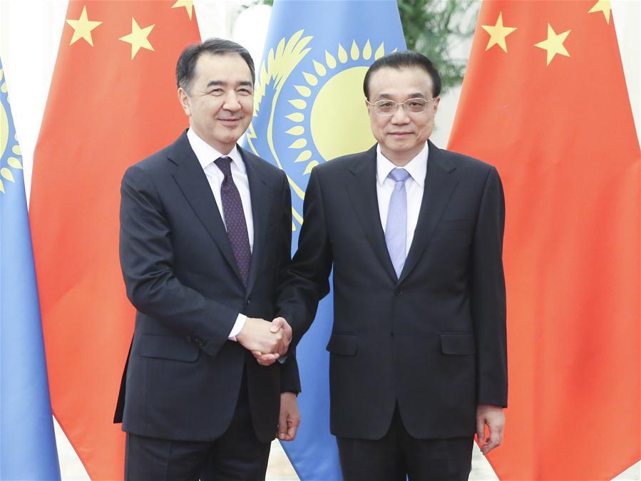 CHINA-BEIJING-LI KEQIANG-KAZAKH PM-REGULAR MEETING (CN)