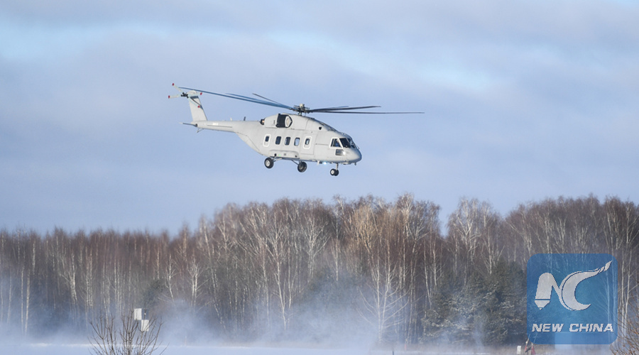 Russia's newest military transport helicopter makes maiden