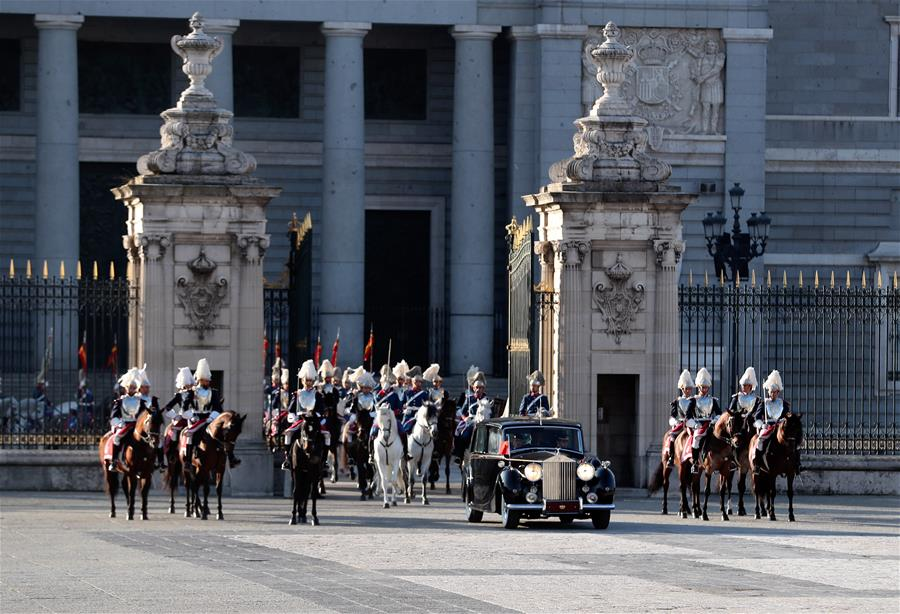 SPAIN-MADRID-XI JINPING-KING-WELCOME CEREMONY