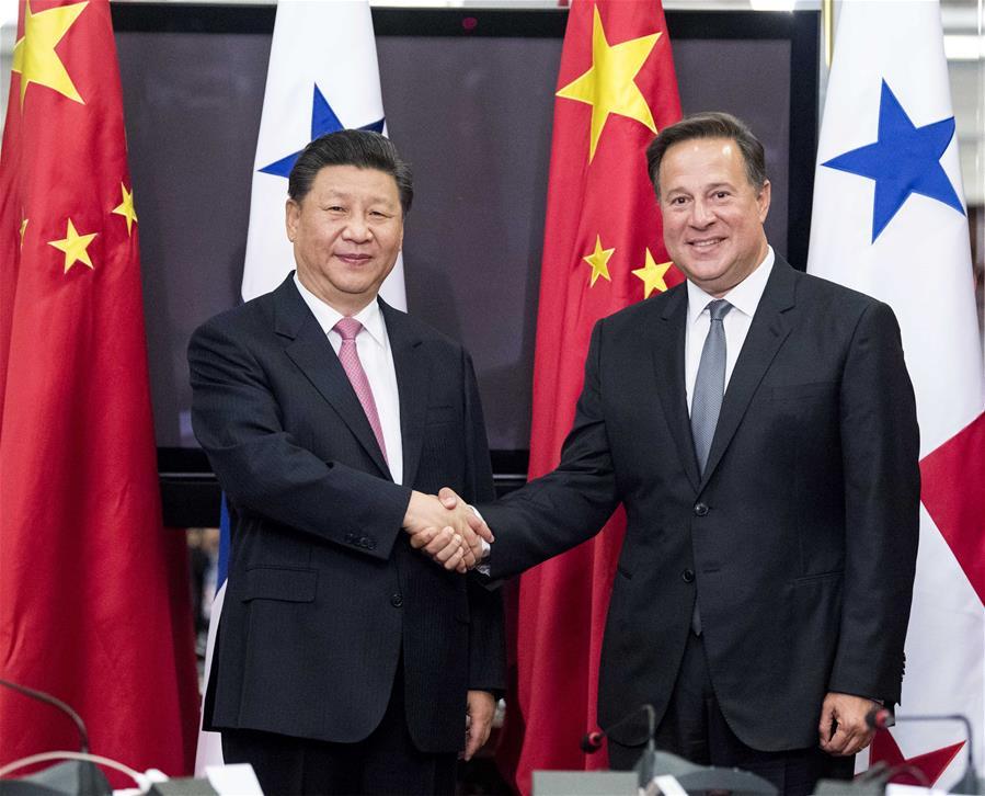 PANAMA-CHINA-XI JINPING-JUAN CARLOS VARELA-TALKS