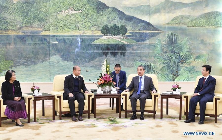 CHINA-BEIJING-WANG YI-CAMBODIA-YOUTH TIE (CN)