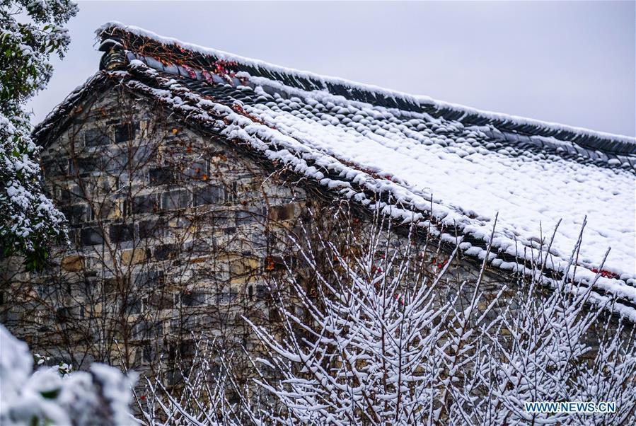 CHINA-ZHEJIANG-WUZHEN-SNOW SCENERY (CN)