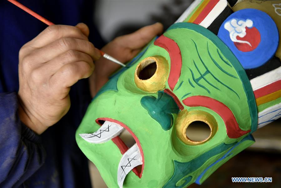 #CHINA-HUBEI-ENSHI-NUO OPERA-MASK MAKING(CN)