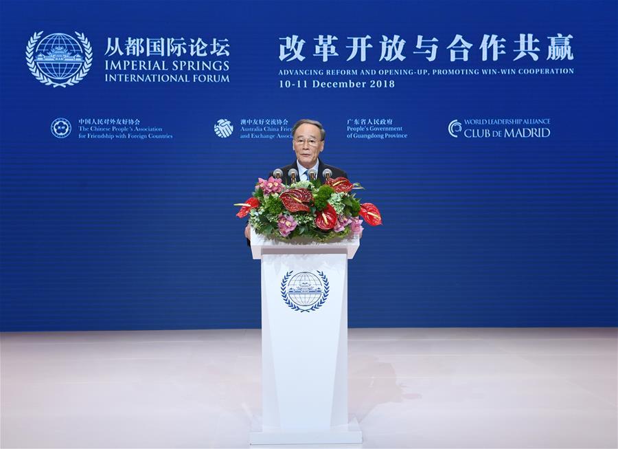 CHINA-GUANGZHOU-WANG QISHAN-FORUM (CN)