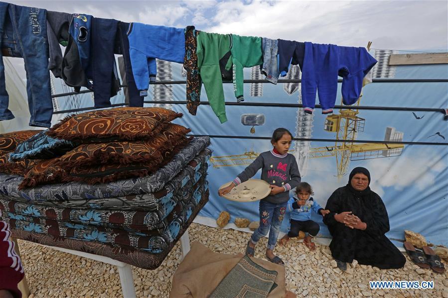 叙利亚难民将在黎巴嫩的难民营度过另一个