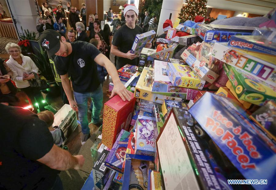 CANADA-VANCOUVER-TOYS-DONATION