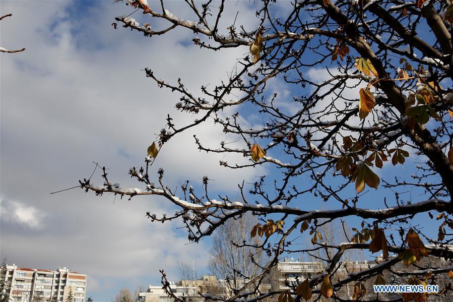 TURKEY-ANKARA-WEATHER-SNOW