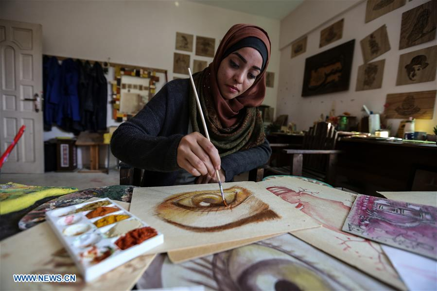 Feature Palestinian Woman Artist Uses Fruit Spices To