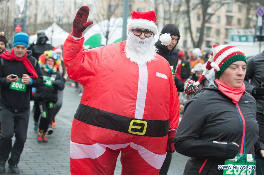 LITHUANIA-VILNIUS-CHRISTMAS RUN