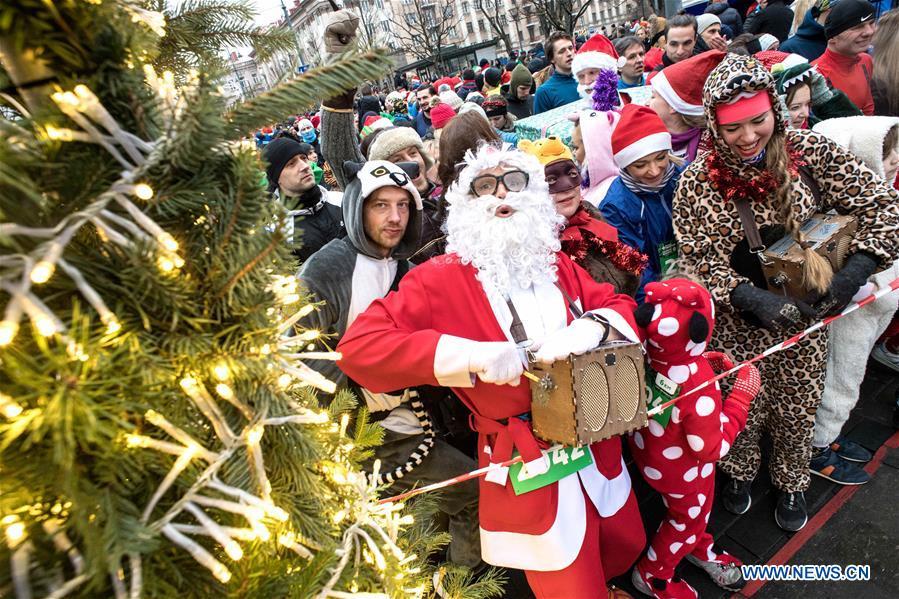 LITHUANIA-VILNIUS-CHRISTMAS RUN
