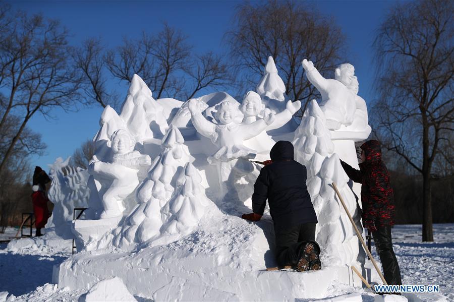 CHINA-HEILONGJIANG-HARBIN-SNOW SCULPTURE (CN)