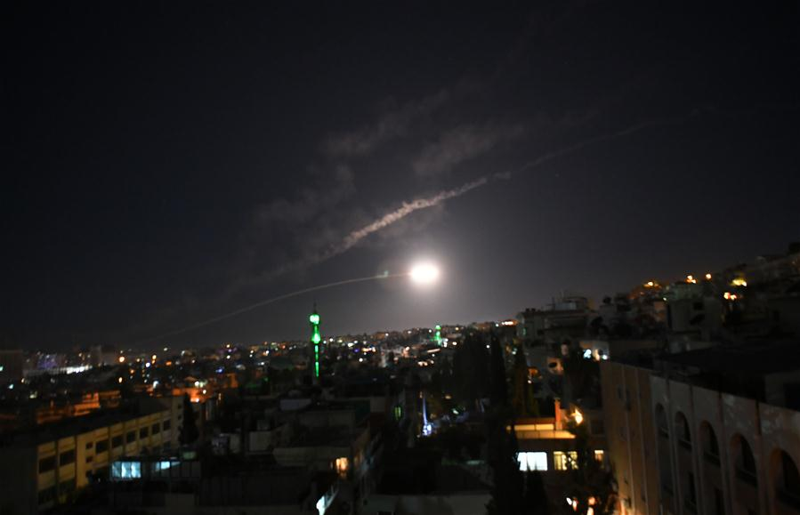 SYRIA-DAMASCUS-AIR DEFENSES-MISSILES-INTERCEPTION