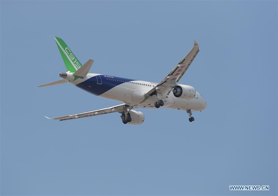 Third C919 jet makes maiden test flight - Xinhua