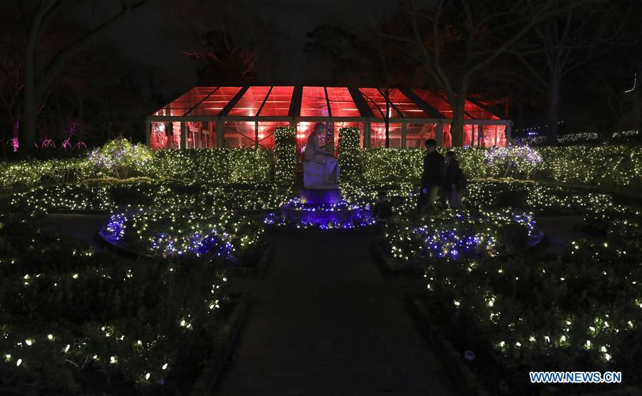 Lights Brighten Bayou Bend Collection And Gardens In Houston