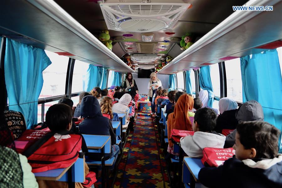 Feature Mobile Bus School Plants Seeds Of Education For Iraqi Displaced Children