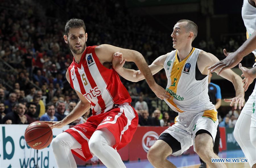 (SP)SERBIA-BELGRADE-BASKETBALL-EUROCUP-CRVENA ZVEZDA VS LIMOGES