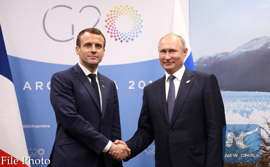 Putin Macron Discuss Syria Ukraine By Phone Xinhua English News Cn
