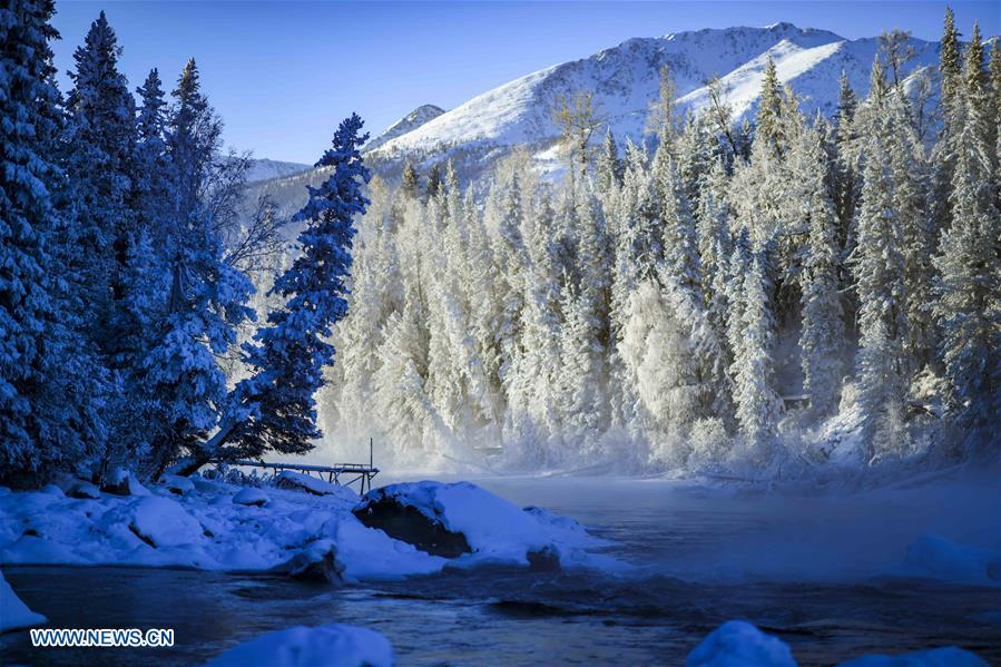 CHINA-XINJIANG-KANAS-SNOW SCENERY (CN)