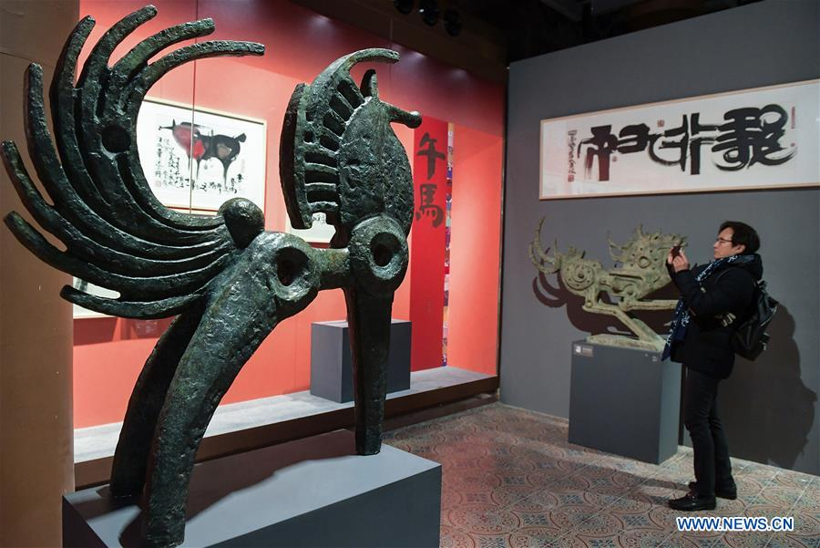 (InPalaceMuseum) CHINA-BEIJING-PALACE MUSEUM-HAN MEILIN CHINESE ZODIAC ART EXHIBITION-OPEN (CN)