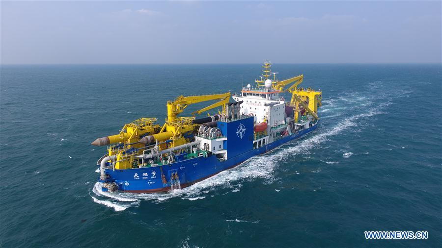 CHINA-LARGE DREDGING VESSEL-TIAN KUN HAO-SEA TRIAL-COMPLETION (CN)