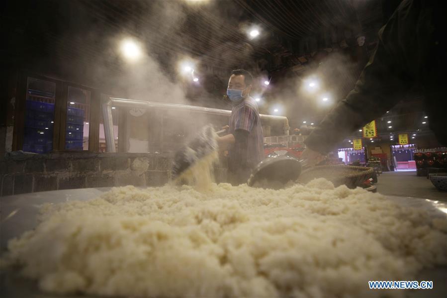 #CHINA-HUNAN-ZHANGJIAJIE-RICE WINE-BREWING (CN)