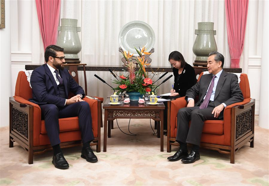 CHINA-BEIJING-WANG YI-AFGHAN PRESIDENT'S NATIONAL SECURITY ADVISER-MEETING (CN)