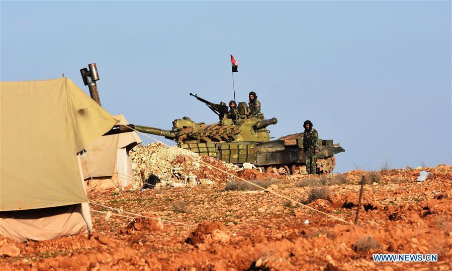 叙利亚军队部署在曼比