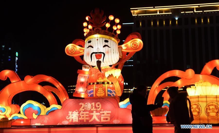 #CHINA-GANSU-COLORED LANTERN-SPRING FESTIVAL(CN)