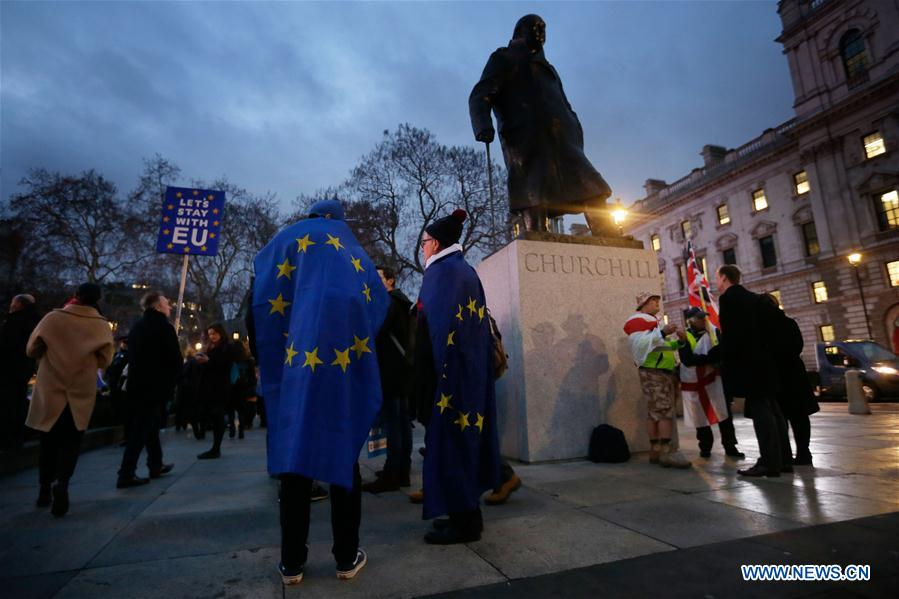 BRITAIN-LONDON-BREXIT DEAL-REJECTION