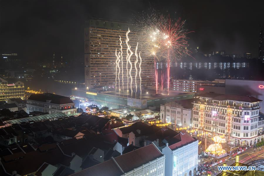 SINGAPORE-CHINESE LUNAR NEW YEAR-LIGHT-UP-CEREMONY