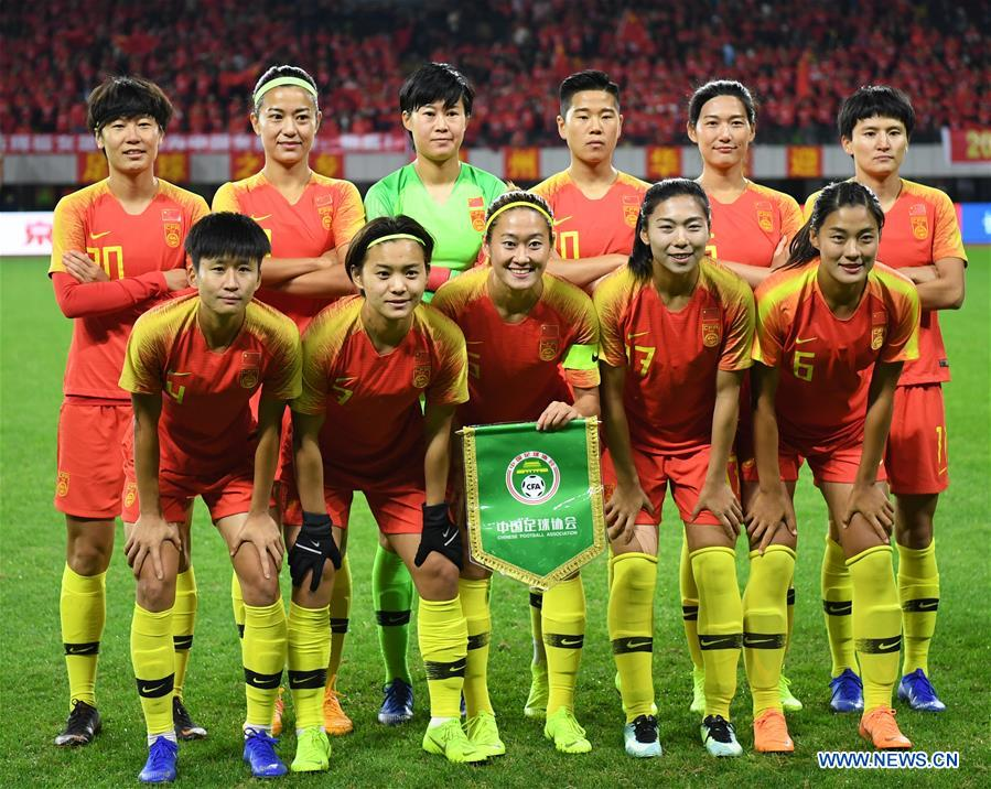 (SP)中国 - 芜湖 - 足球 - 女子 - 中国和韩国(CN)