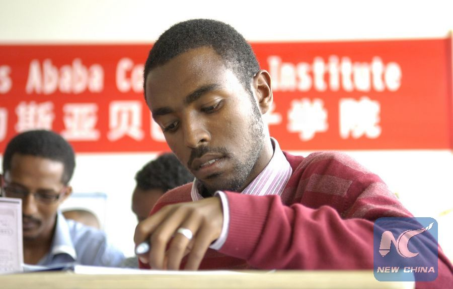 Ethiopian professionals learn Chinese language to boost