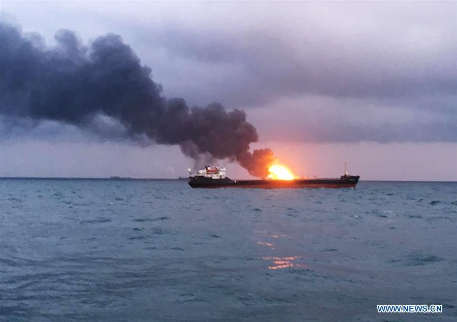 KERCH STRAIT-SHIPS-FIRE