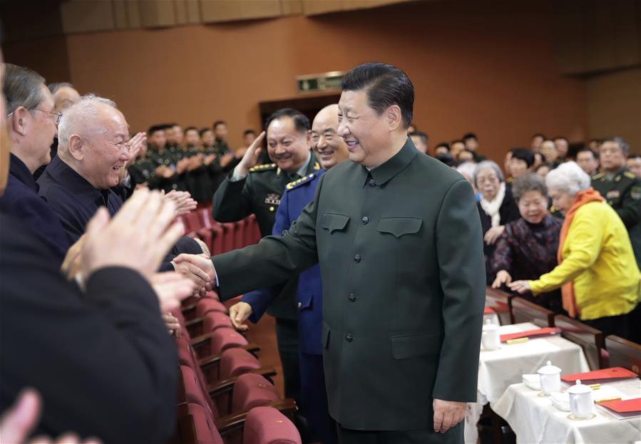 CHINA-BEIJING-XI JINPING-MILITARY VITERANS-SPRING FESTIVAL GREETINGS(CN)