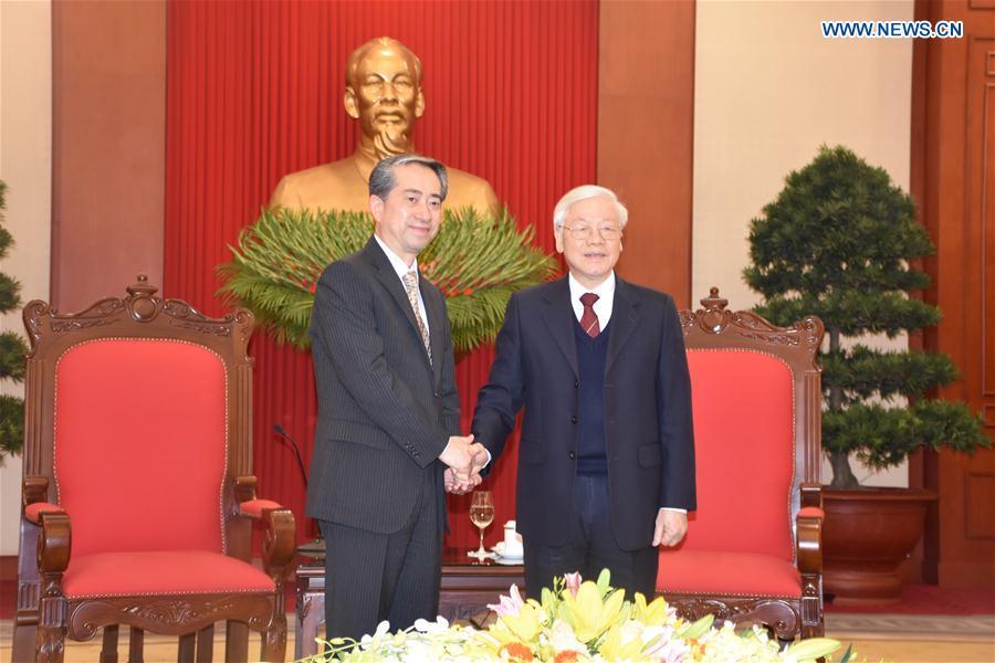 VIETNAM-HANOI-NGUYEN PHU TRONG-CHINA-XIONG BO-MEETING