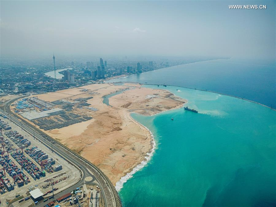 "Xinhua Headlines: A city to emerge from sea -- China, Sri Lanka jointly build ""shining pearl of Indian Ocean"" - Xinhua"