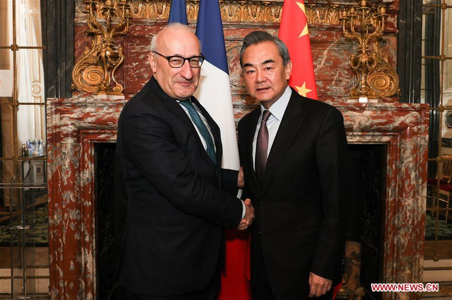 FRANCE-PARIS-WANG YI-ETIENNE-MEETING