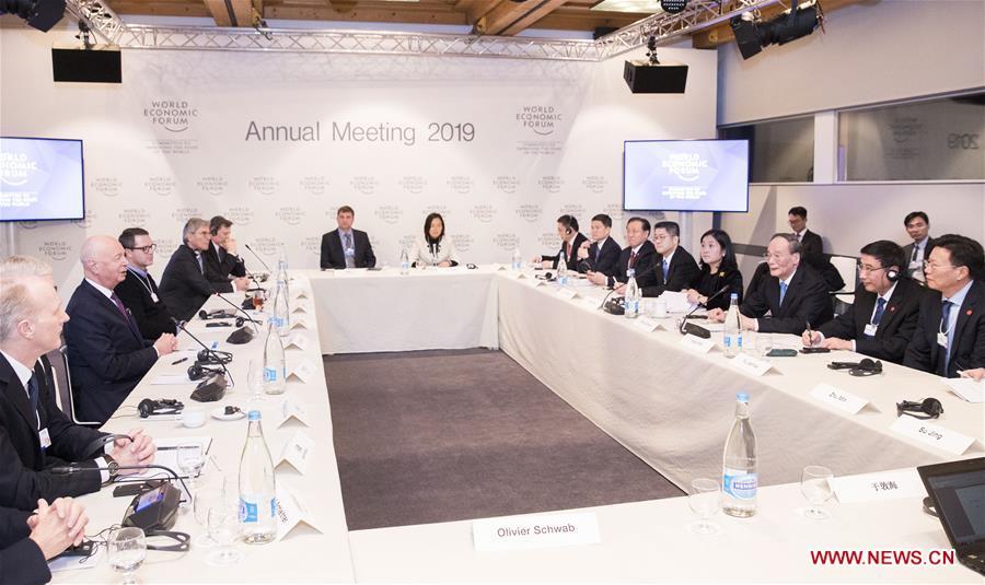 SWITZERLAND-DAVOS-WANG QISHAN-WEF