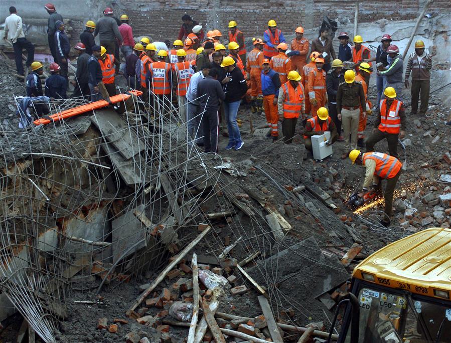 印度 - 哈里亚纳 - 建筑坍塌