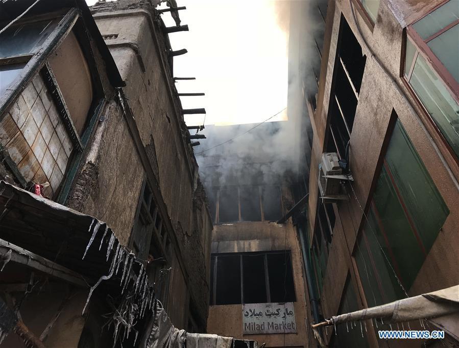 阿富汗喀布尔-MARKET-FIRE