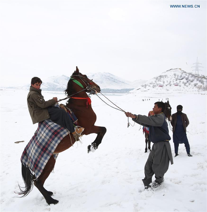 AFGHANISTAN-KABUL-DAILY LIFE-SNOW