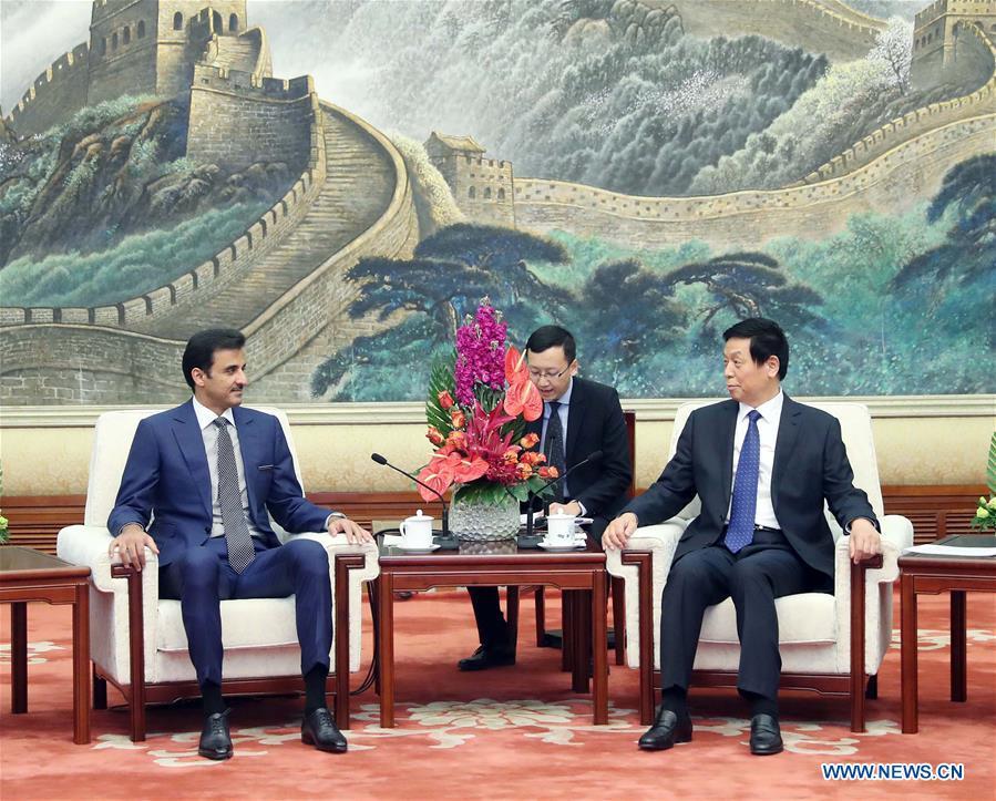 CHINA-BEIJING-LI ZHANSHU-QATARI EMIR-MEETING(CN)