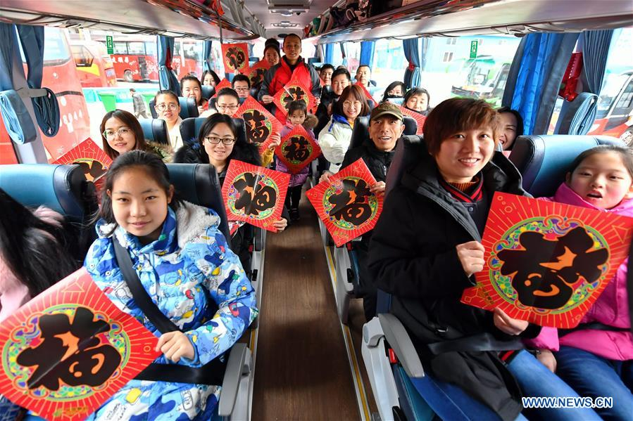CHINA-TAIYUAN-SPRING FESTIVAL-TRAVEL RUSH--FREE COACH (CN)